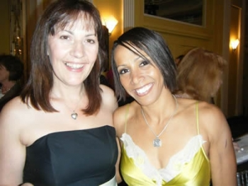 Julie Libby with Kelly Holmes